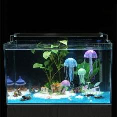 Maigcworldmall Pet Supplies Simulasi Ubur-ubur Microview Tangki Ikan Bersinar Aquarium Ornamen Silikon-Internasional