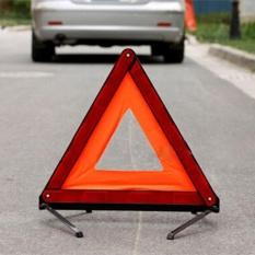 OSMAN Mobil Praktis Segitiga Tanda Peringatan Darurat Dilipat Reflektif Tripod Merah & Oranye-Internasional