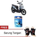 Spesifikasi Osram Lampu Depan Motor Honda Beat Esp Cw 62337Cb 35 35 12V P15D 25 1 Cool Blue Gratis Sarung Tangan Murah Berkualitas