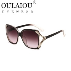 Oulaiou Merek 2017 Eropa Hollow Style UV 400 Baru Fashion Wanita Indah Sunglasses O9584-Intl