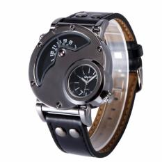 Jual Oulm Jam Tangan Pria Sport Watch Two Gmt Time Zone Analog Display Leather Wristband 9591 Oulm Online