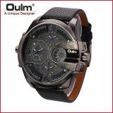 Spesifikasi Oulm Analog Quartz Men Leather Band Fashion Watch 3790 Black Blue Lengkap Dengan Harga