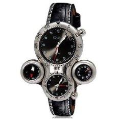 Oulm Mechanical Analog Quartz Men Leather Band Fashion Watch - 1149 - Black