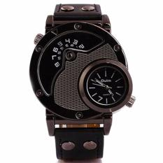 Jual Oulm Quartz Fashion Unique Watch 9591L Jam Tangan Pria Strap Kulit Leather Band Mechanical Fashion Accessories Trendy Design Hitam Branded