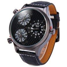Oulm Quartz Men Leather Band Fashion Watch - 3572 - Hitam