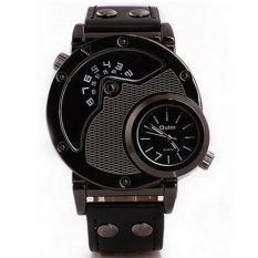 Oulm Quartz Woman Leather Band Fashion Watch - 9591L - Hitam