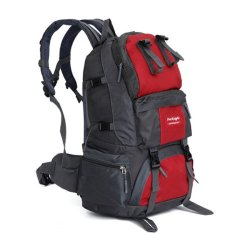 Jual Outdoor Petualangan Ransel Pria Travel Sport Backpack Merah Branded