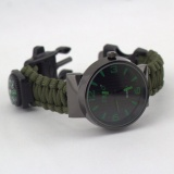 Jual Outdoor Survival Kit Paracord Wrist Watches Compass Flint Whistle Bushcraft Gear Intl Gosport Di Tiongkok