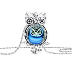 Owl Liontin Kalung Perhiasan Vintage Terbaru Kaca Cabochon Kalung-Intl