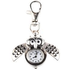 Owl Watch W/Gantungan Kunci Klip Pocket Watch