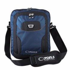 Ozone Netbook/ Ipad 10 inch Tas Selempang Laptop 742 + Raincover - Biru Tua