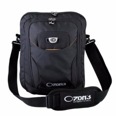 Ozone Netbook/ Ipad 10 inch Tas Selempang Laptop 742 + Raincover - Hitam