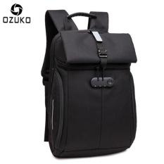Harga Ozuko Tahan Air Oxford 15 Inch Laptop Ransel Besar Kapasitas Bisnis Ransel Anti Theft Reflektif Perjalanan Tas Fashion Sch**l Tas Origin