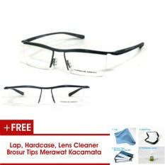 P8189 Frame Kacamata Half Formal Bisa Dipasang Lensa Minus Di Optik Terdekat
