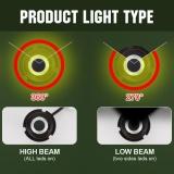 Spesifikasi Paket 2 Cob Led Auto Mobil Headlight 40 W 10000Lm Semua Dalam Satu Mobil Lampu Led Bulb Fog Light Putih 6000 K Head Lamp H1 H4 H7 H8 H9 H10 H11 H13 Hb1 Hb5 9003 9008 Model H4 Hb2 9003 Internasional Bagus