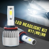 Beli Pack Of 2 Cob Led Auto Car Headlight 40W 10000Lm All In One Car Led Headlights Bulb Fog Light White 6000K Head Lamp H1 H4 H7 H8 H9 H10 H11 H13 Hb1 Hb5 9003 9008 Models H11 H9 H8 Intl Oem Online