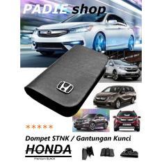 PADIE - Dompet STNK Mobil HONDA / Gantungan Kunci Premium BLACK