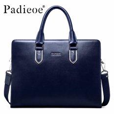 Padieoe Baru Merek Terkenal Genuine Leather Business Briefcase Bag Pria Tas Fashion Tas Selempang-Intl