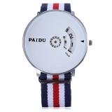Spesifikasi Paidu 58897 Male Jam Kuarsa Diimpor Movt Diputar Arab Tali Nilon Jam Tangan Skala Putih Dan Harganya