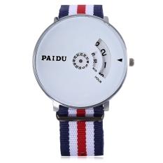 Spesifikasi Paidu 58897 Male Jam Kuarsa Diimpor Movt Diputar Arab Tali Nilon Jam Tangan Skala Putih Terbaru