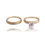 Jual Sepasang Cantik 18 Kb Berlapis Emas Zirkon Hias Pernikahan Cincin Pasangan Kita 8 Branded Original
