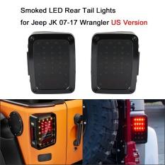 Sepasang Merokok Rear Tail Lampu Rem Lampu Balik Untuk Jeep Jk 07 17 Wrangler Versi As Intl Asli