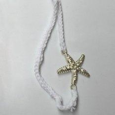 Sepasang Stylish Starfish Dihiasi LACE UP Barefoot Sandal untuk Wanita
