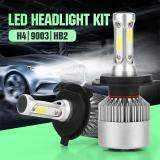 Starmall Pack Of 2 Cob Led Auto Car Headlight 40W 10000Lm All In One Car Led Headlights Bulb Fog Light White 6000K Head Lamp Models H4 Hb2 9003 Diskon Tiongkok
