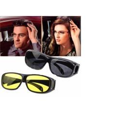 Paket 2 pcs Kacamata Anti Silau Untuk Siang dan Malam