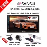 Paket Audio Mobil Head Unit Double Din 2Din Tape Sansui Sa 5200I Sa 5201I Sa 5202I Rear Camera Antena Tv Jawa Barat
