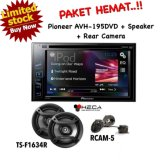 Beli Paket Audio Mobil Head Unit Pioneer Double Din Avh 195Dvd Speaker Ts F1634R Rear Camera Rcam 5 Murah Di Indonesia