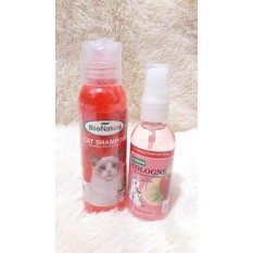 Cleine Tadita Petshop - Paket Bio Natural Shampoo & Parfume Kucing Strawberry By Cleine Tadita Petshop.