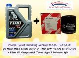 Beli Paket Bundling Oli Tmo Toyota Motor Oil 10W 40 Filter Oli Agya Ayla Pakai Kartu Kredit