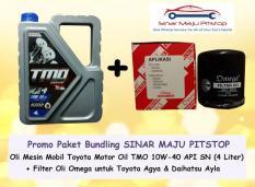 Beli Paket Bundling Oli Tmo Toyota Motor Oil 10W 40 Filter Oli Agya Ayla Dki Jakarta