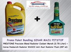 PROMO Paket Bundling Prestone Radiator Coolant - Cairan Merah 3.8 Liter & WAXCO ANTI RUST Radiator Flush 287 ml