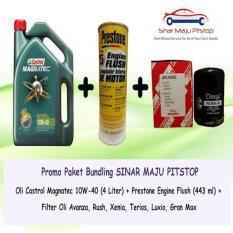 Paket Ganti Oli Toyota Avanza - Castrol Magnatec + Filter Oli + Flush
