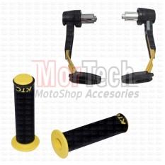 Paket Handguard Pelindung tangan Pro Handle Guard Robot CBR 250 + Hand Grip Handgrip Handpad Gas 9907 KTC Gold