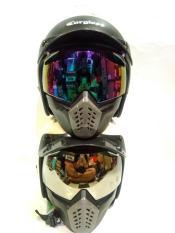 Beli Paket Helm Carglos Cargloss Retro Googgle Masker Plus Pet Nyicil