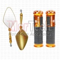 Harga Paket Kaca Spion Daun Handpad Handgrip Jalu Bintik Monster Beat Fi Street Esp 110 Cc Gold Baru Murah