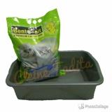 Jual Paket Litter Box Besar Bentonit Lavender Satu Set