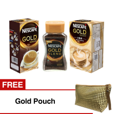 Spek Paket Nescafe Gold Berhadiah Gold Pouch Nescafe