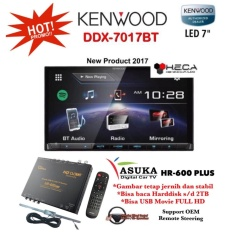 PAKET PROMO Kenwood DDX-7017BT Head Unit Double Din DDX 7017 BT Tape Audio Mobil & ASUKA HR-600 TV Tuner Digital