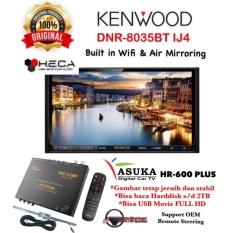 PAKET PROMO Kenwood DNR-8035BTIJ4 Head Unit DNR 8035BT IJ4 Double Din Tape Mobil Audio & ASUKA HR-600 TV Tuner Digital