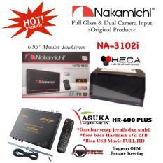 PAKET PROMO Nakamichi NA-3102i Tape Mobil NA 3102 I Head Unit Double Din & ASUKA HR-600 TV Tuner Digital