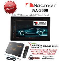 PAKET PROMO Nakamichi NA-3600 Tape Mobil NA3600 Head Unit Double Din Audio & ASUKA HR-600 TV Tuner Digital