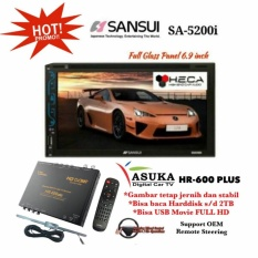 PAKET PROMO Sansui SA-5200i Head Unit Double din Tape Mobil & ASUKA HR-600 TV Tuner Digital
