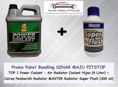 Jual Paket Servis Radiator Top One Air Coolant Hijau 4 Ltr Master Flush Original