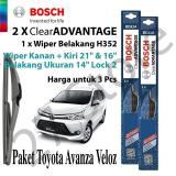 Diskon Besarpaket Wiper Avanza Veloz Depan Belakang Bosch Clear Advantage 3Pcs