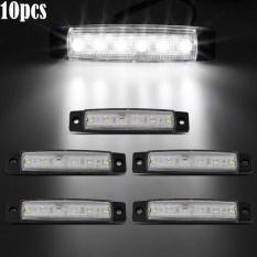 PALIGHT 10 Pcs 12 V SMD 6 LED Mobil Celana Jins Perca Ringan Belakang Sisi Lampu