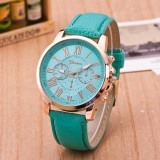 Palight Fashion Wanita Elegan Jam Tangan Unisex Round Pu Leather Strap Quartz Intl Palight Diskon 40